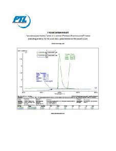 Netzsch DSC 200 F3 Maia Differential Scanning Calorimetry Sample Report